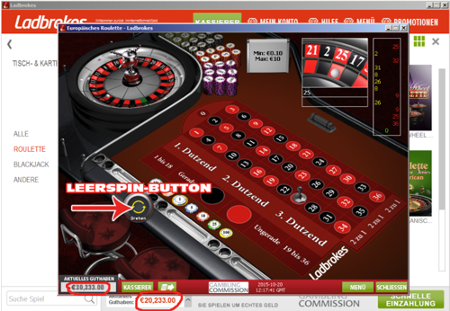 Roulette absichern