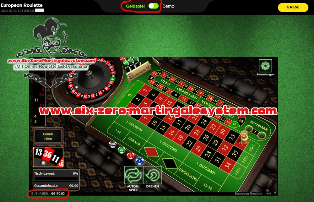 online roulette system im 888casino